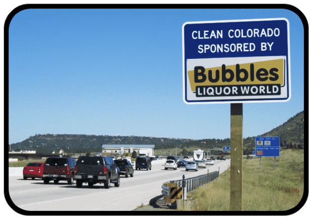 Bubbles Liquor World has Joined the Sponsor A Highway Program!