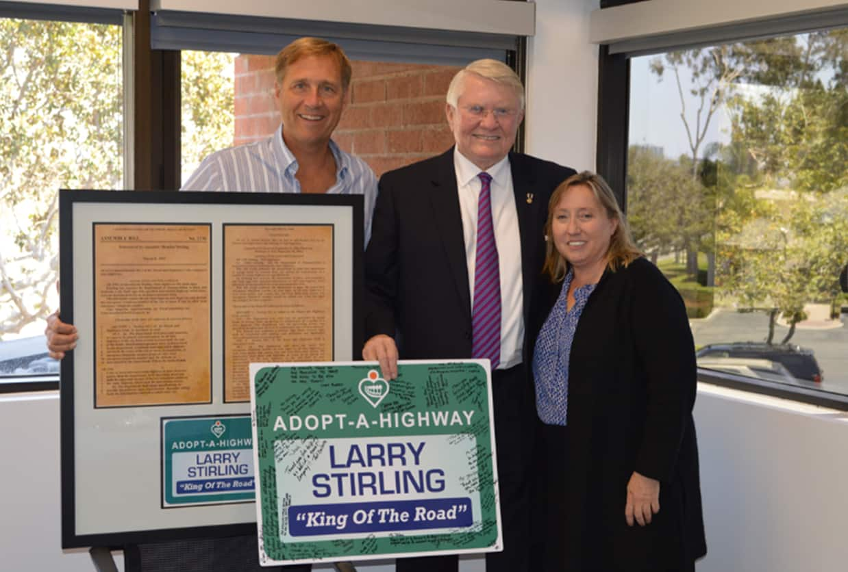 AHMC Honors Larry Stirlng