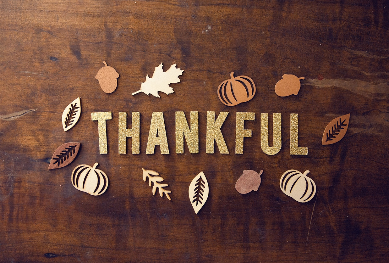 In this time of gratitude…