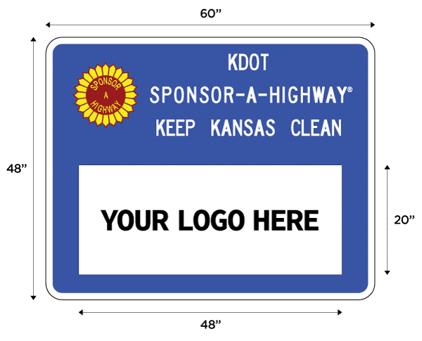 Kansas Sponsor a Highway Main Sign