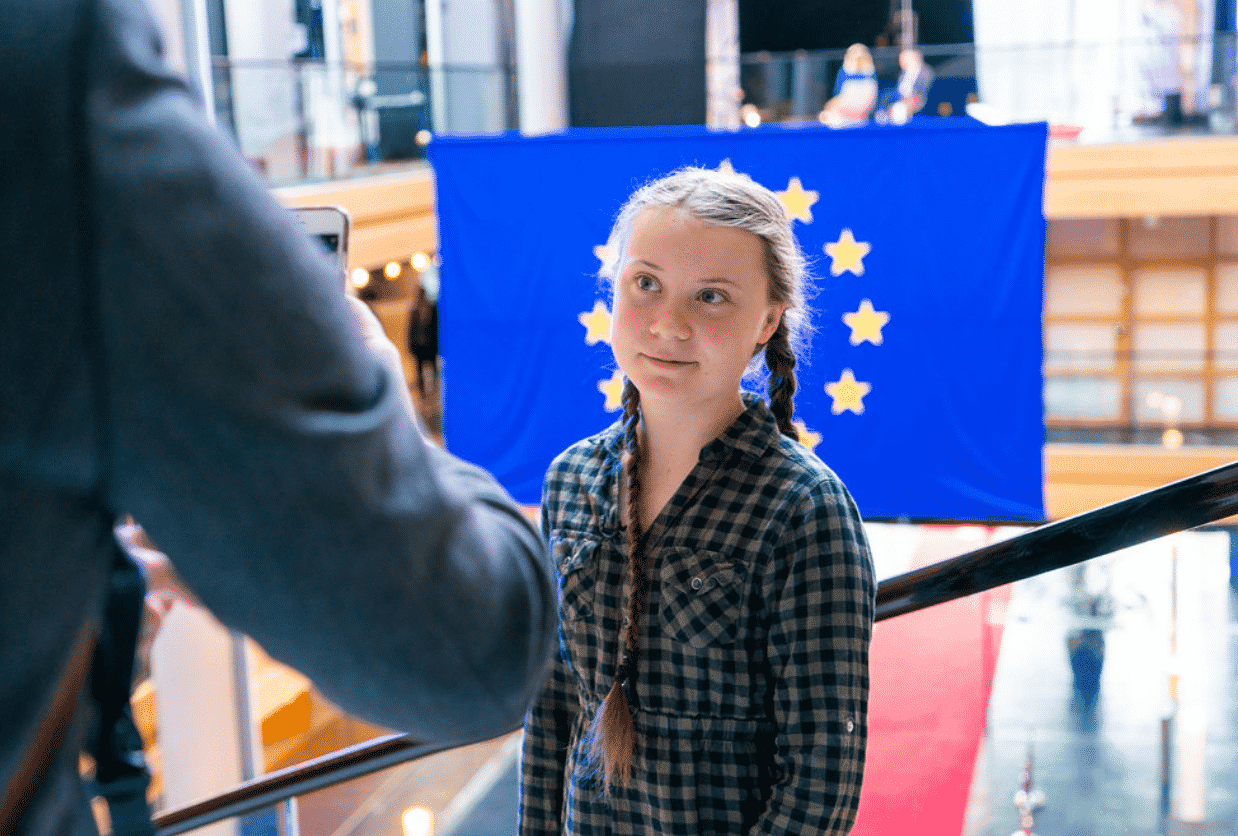 Greta at Parliament